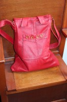 Aline Coat remade into Red Across Body Bag