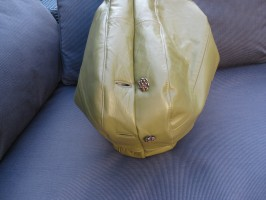 Lime Green Slouch FERN Hobo with amazing original gold Buttons