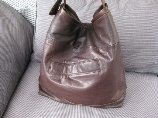 Boxy Recycled Leather Bag Inspired From Prada Shoulder Bag