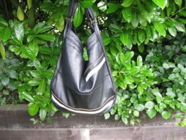 Upcycled Butter Soft Jacket into Slouchy FERN Hobo Bag