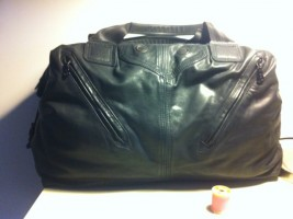 Upcycled Biker Jacket Holdall for a Long Lost Friend.