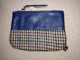Large Zip Coin Purses with Harris Tweed Inspired by Mulberry