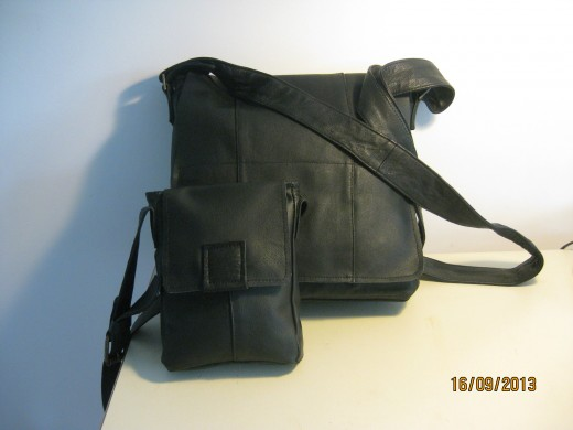 Two JOE Messenger Bags from One Coat