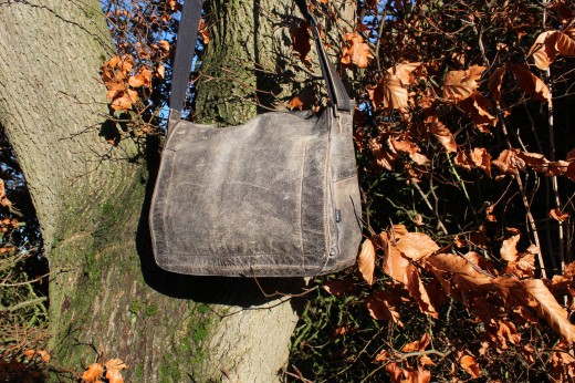 Large Distressed Leather HENRY Messenger Laptop Overnight Whatever you want Bag