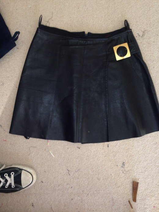 1960's Leather and Suede Skirts into 2 EVIE Hobos