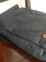 Joe Upright Messenger from Vintage Blue Leather Jacket