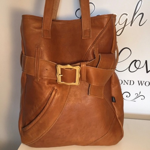 Large Tan Tote from Batwinged Jacket